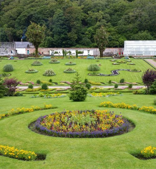 Kylemore Garden near Letterfrack, Connemara,